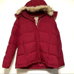 LL Bean Goose Down Puffer Winter Coat Large